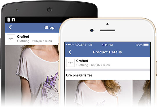 shopify facebook store mobile iPhone Android